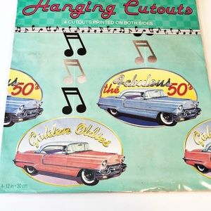 Other - 🎉Fabulous 50's Party Hanging Cutouts🎉